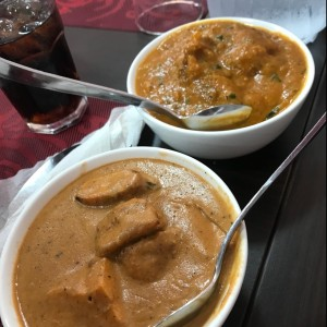 Curry de Pescado y Butter Chicken