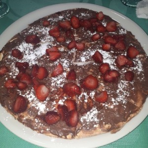 pizza dulce de nutella