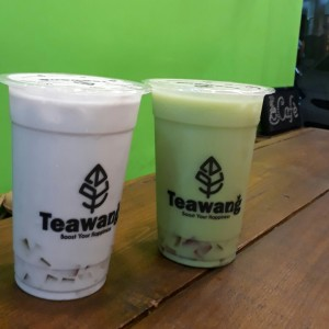Bubble Tea Taro y Matcha con Jelly