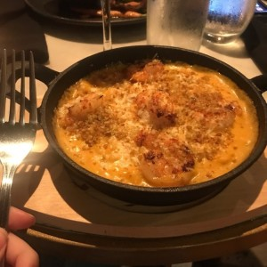 mac and cheese de langostinos