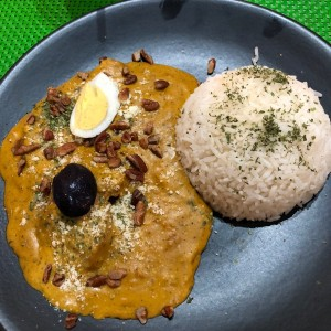 Ají gallina con arroz