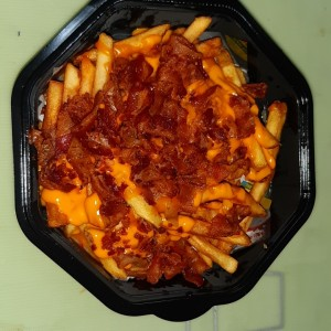Bacon cheddar cheese fries