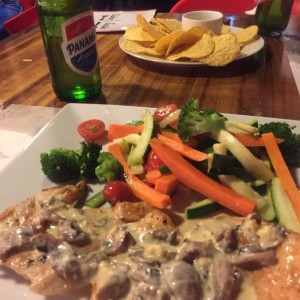 Grilled Chicken with Mushroom Sauce and Saute Vegetables