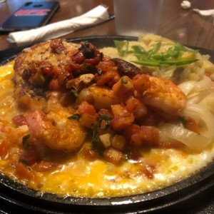 Sizzling Chicken Shrimp
