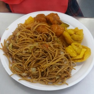 chow mein pollo agridulce