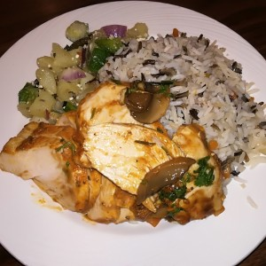 Pollo con arroz y vegetales