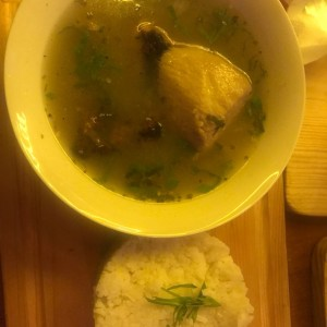 sancocho con arroz!??