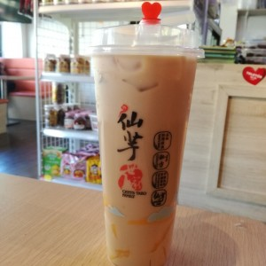 Bubble tea original + mango pudding