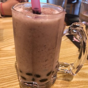 Red bean bubble tea
