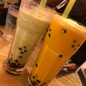 Bubble Teas de Match y Thai