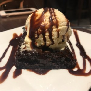 brownies con helado