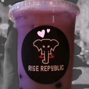 Bubble Tea Taro con Tapioca