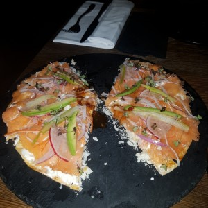 SMALL PLATES - Smoked Salmon Pizza