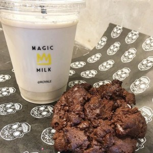 Triple Chocolate Cookie + Vanilla Milk.