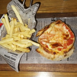 Pizza Burger & fries