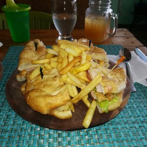 Club sandwich de hojaldre