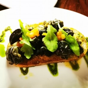 Tartine de escargots