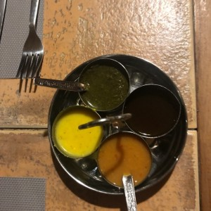 table sauces...nice touch