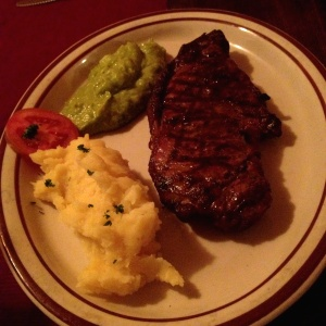 New York Steak (16oz) con pure & guacamole