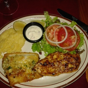 Platos Mixtos - Pollo y corvina