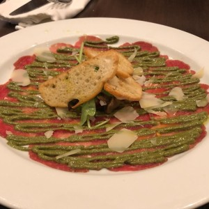 Carpaccio de Filete de Res