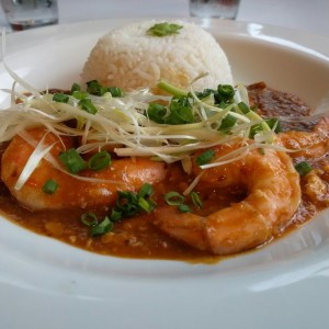Especiales - Singapore chilli prawns *