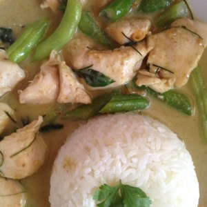 Curry verde con pollo
