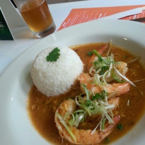 Singapore chilli prawns *