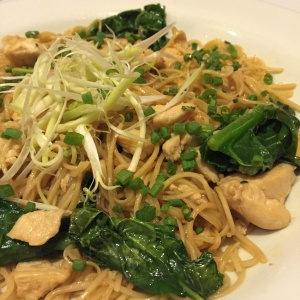 Garlic noodles with chicken