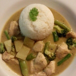 yellow curry con pollo