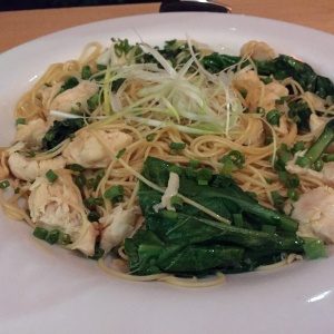 Garlic noodles con pollo