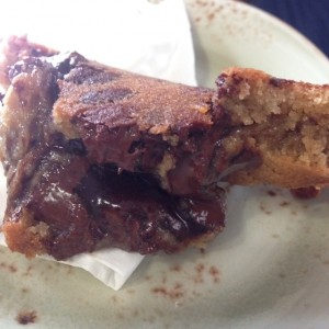 Chocolate Chips rellenas de brownie