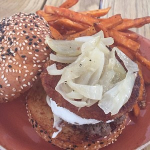 hamburguesa goat cheese