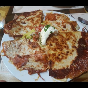 quesadillas de camaron