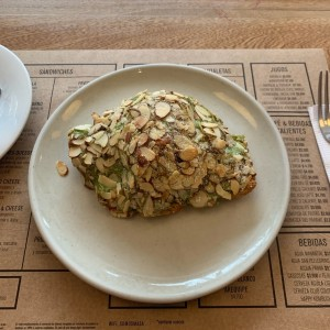 Croissant with almonds and pistachio