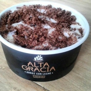 Arroz con leche ( y topping de brownie)