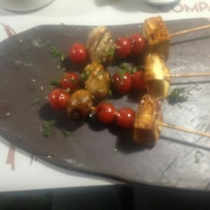 brocheta vegetariana