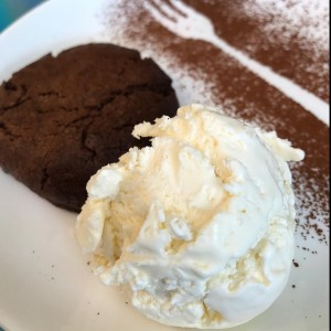 Lava Cookie con helado