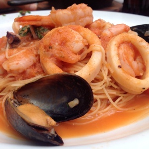 Capellini con Frutos de Mar
