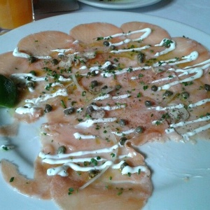 Carpaccio de salmon