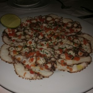 carpacio de pulpo
