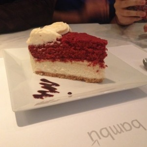 red velvet/ cheesecake