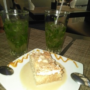 Tres leches y mojitos