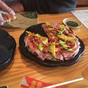 pizza de sushi cln salmon