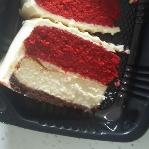 Red velvet con Cheesecake