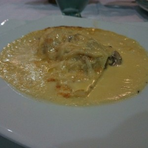 Creppe hongos y queso emmental exquisito