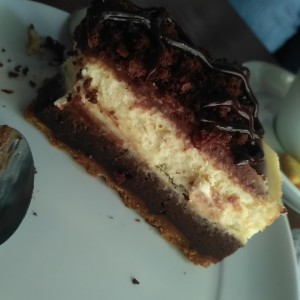 imperdible cheescake de Brownie.