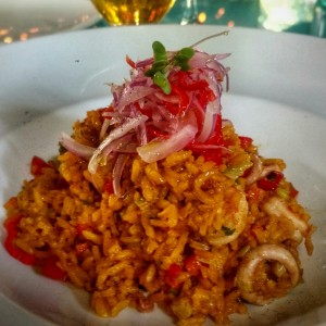 Arroz Chaufa con frutos del mar