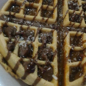 Waffles con chocolate