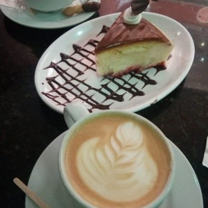 Cheesecake de chocolate + café